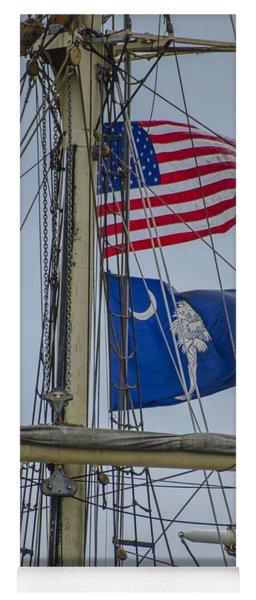 Tall Ships Flags Yoga Mat