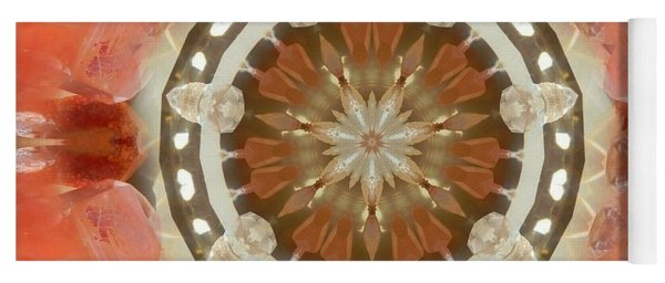 Tangerine Lemurian Seed Crystal Mandala Yoga Mat