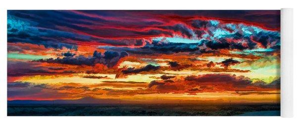 Taos Sunset Iv Yoga Mat