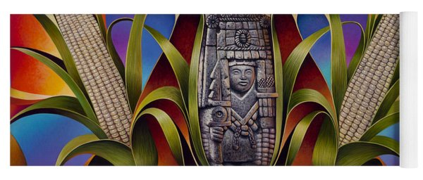 Tapestry Of Gods - Chicomecoatl Yoga Mat
