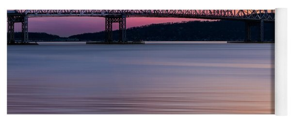 Tappan Zee Bridge Sunset Yoga Mat