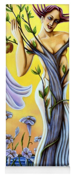 Yoga Mat featuring the painting Teasing The Weasel by Valerie White