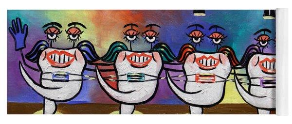 Teeth With Braces Dental Art By Anthony Falbo Yoga Mat