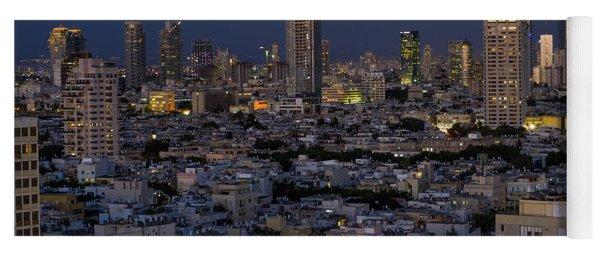 Tel Aviv At The Twilight Magic Hour Yoga Mat