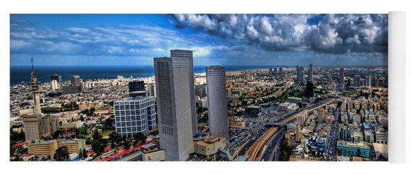 Tel Aviv Center Skyline Yoga Mat