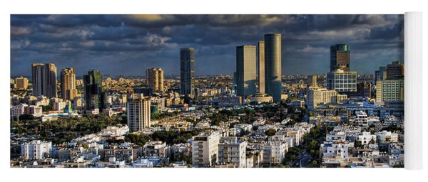 Tel Aviv Skyline Fascination Yoga Mat