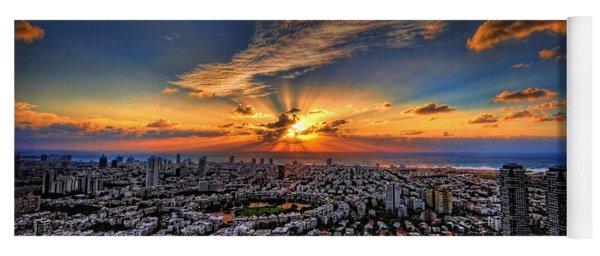 Tel Aviv Sunset Time Yoga Mat