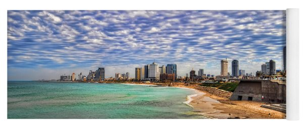 Tel Aviv Turquoise Sea At Springtime Yoga Mat
