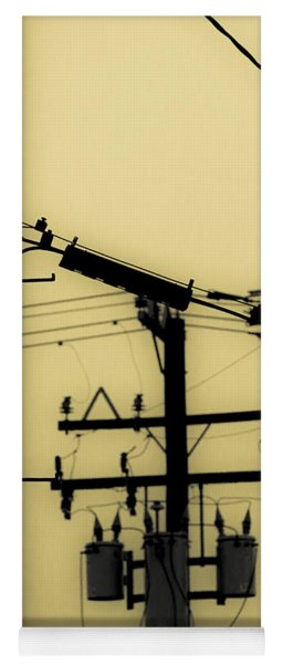 Telephone Pole And Sneakers 5 Yoga Mat