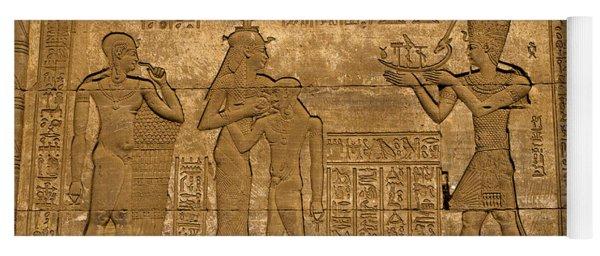 Temple At Denderah Egypt Yoga Mat