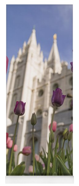 Temple Tulips Yoga Mat