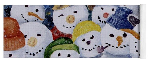 Ten Little Snowmen Yoga Mat