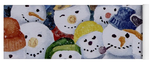 Ten Little Snowmen Yoga Mat