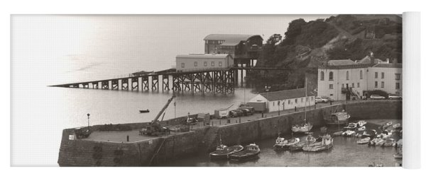 Tenby Harbour And Castle Hill Vignette Yoga Mat