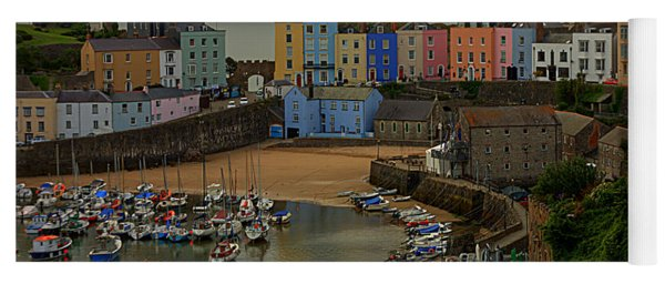 Tenby Harbour In The Morning Yoga Mat