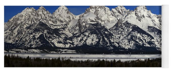 Tetons From Glacier View Overlook Yoga Mat
