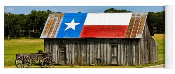 Texas Barn Flag Yoga Mat