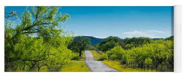 Texas Hill Country Road Yoga Mat