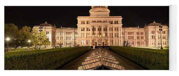 Texas State Capitol Building At Night Yoga Mat