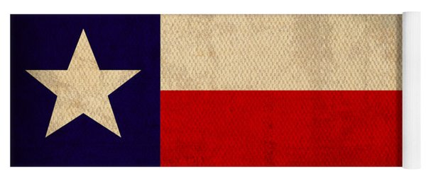 Texas State Flag Lone Star State Art On Worn Canvas Yoga Mat