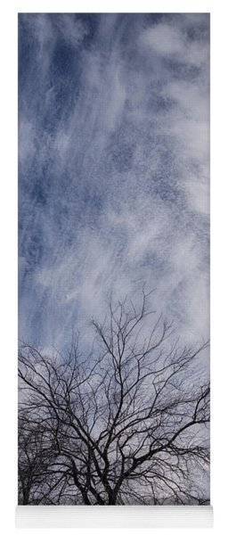 Texas Winter Clouds Yoga Mat
