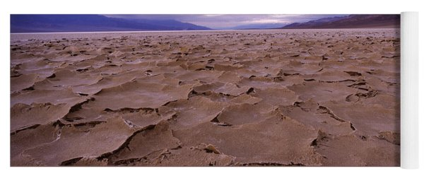 Textured Salt Flats, Death Valley Yoga Mat