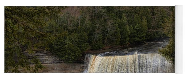 Textured Tahquamenon River Michigan Yoga Mat