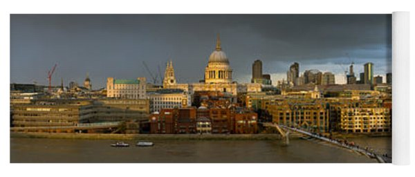 Thames With St Paul's Panorama Yoga Mat