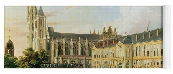 The Abbey Church Of Saint-denis And The School Of The Legion Of Honour In 1840 Oil On Canvas Yoga Mat