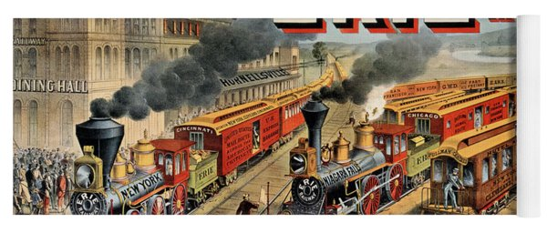 The American Railway Scene  Yoga Mat