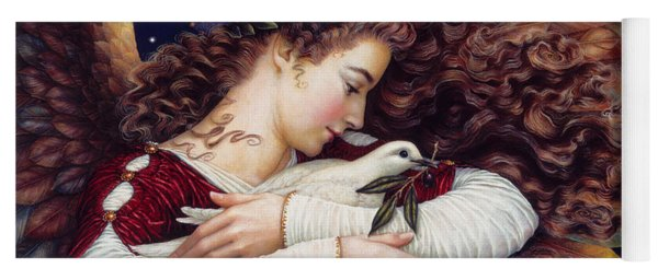 The Angel And The Dove Yoga Mat