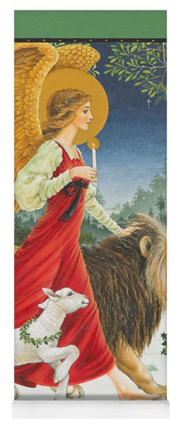 The Angel The Lion And The Lamb Yoga Mat