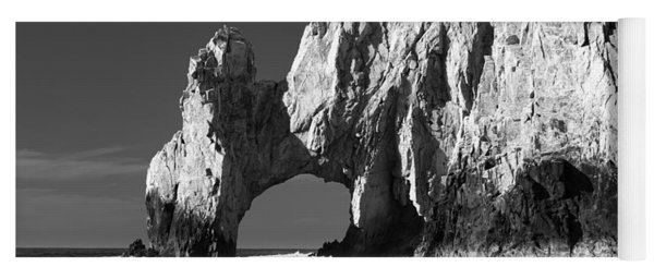 The Arch Cabo San Lucas In Black And White Yoga Mat