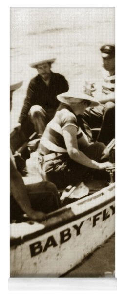 The Baby Flyer With Ed Ricketts And John Steinbeck  In Sea Of Cortez  1940 Yoga Mat