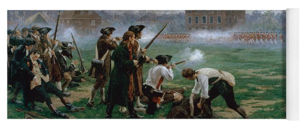 The Battle Of Lexington, 19th April 1775 Yoga Mat