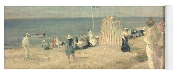 The Beach At Ambleteuse, 1901 Yoga Mat