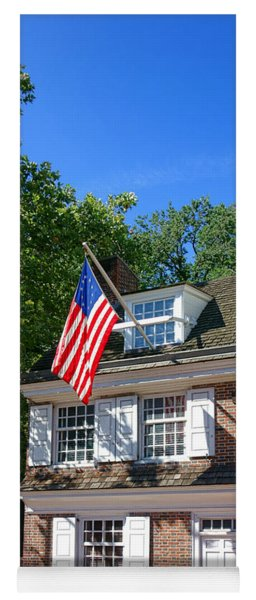 The Betsy Ross House Yoga Mat