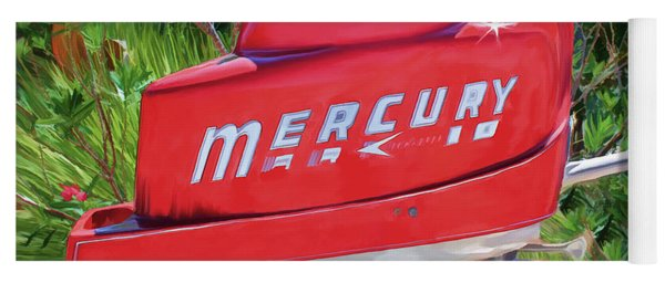 The Big Red Mercury Engine Yoga Mat