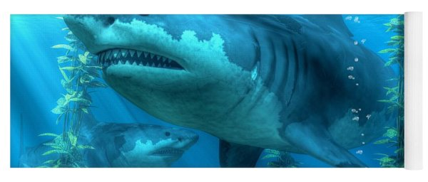 The Biggest Shark Yoga Mat