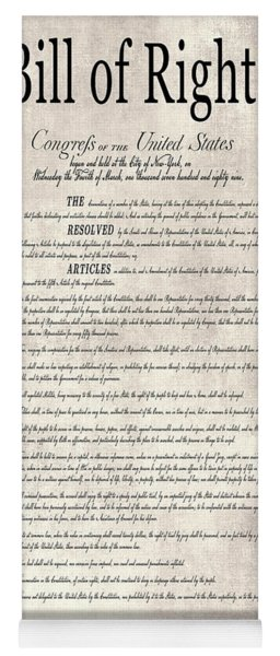 The Bill Of Rights Parchment Yoga Mat