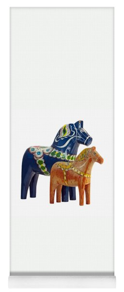 The Blue And Red Dala Horse Yoga Mat