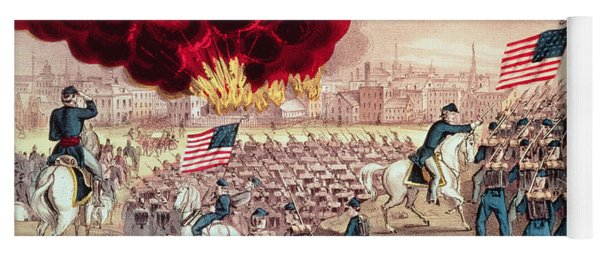 The Capture Of Atlanta By The Union Army Yoga Mat