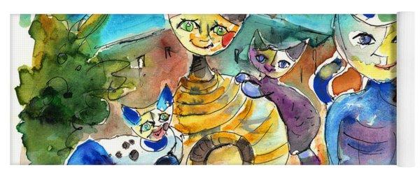 The Cat Family Of Toledo Yoga Mat