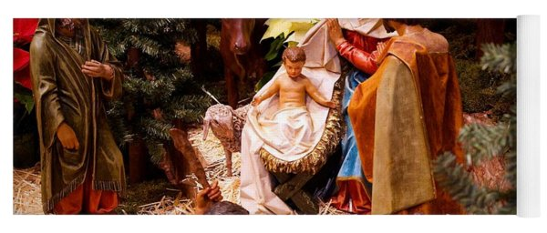 The Christmas Creche At Holy Name Cathedral - Chicago Yoga Mat