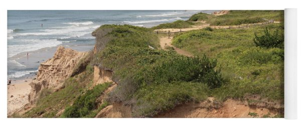The Cliffs Of Montauk Looking West Yoga Mat