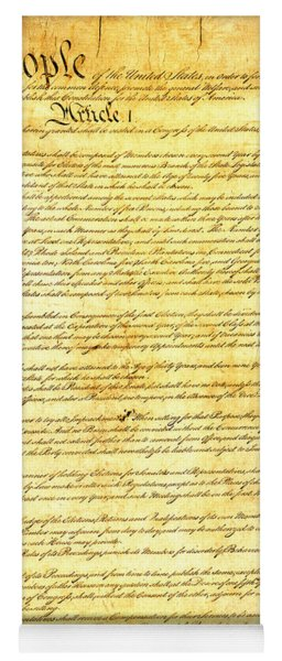 The Constitution Of The United States Of America Yoga Mat