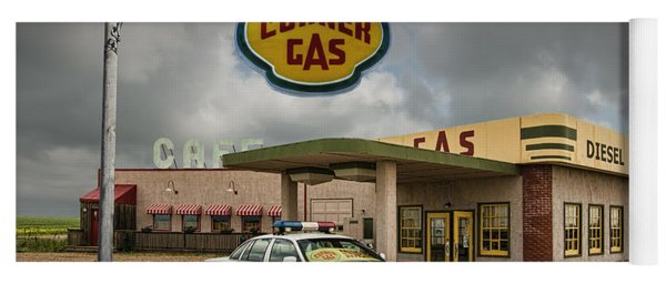 The Corner Gas Station From The Canadian Tv Sitcom Yoga Mat