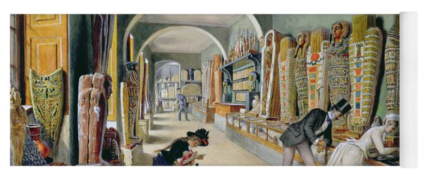 The Corridor And The Last Cabinet Of The Egyptian Collection In The Ambraser Collection Yoga Mat