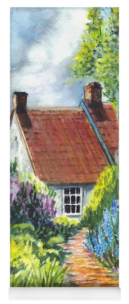 The Cottage Garden Path Yoga Mat