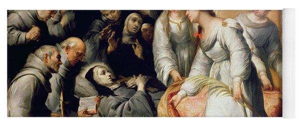 The Death Of Saint Clare Yoga Mat
